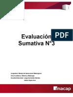 Evaluación Sumativa 3 Informe de Flotación