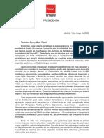 Carta de Ayuso a Pau y Marc Gasol