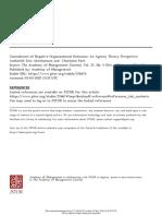 Concealmet of Negative Organizational Outcomes