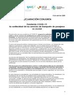 Declaración Conjunta COVID-19