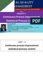 UNIT 4 Continuous Process Improvement TQM Dr. S B MALLUR