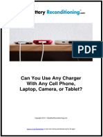 Can You Use Any Charger With Any Cell Phone, Laptop, Camera, Or Tablet