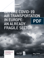 Before Covid-19, air transportation in Europe