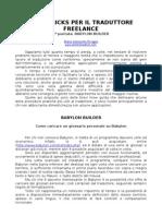 Tips&Tricks Per Il Traduttore Freelance 1a p.