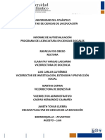 DOCUMENTO DE AUTOEVALUACIÓN 2020