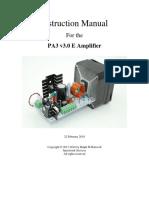 PA3 v3.0 E Instruction Manual