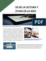 HABITOS DE LA LECTURA Y ESCRITURA EN LA WED
