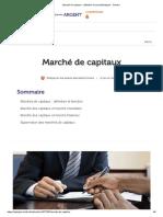 Marché de capitaux _ définition et caractéristiques - Ooreka