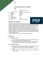 SILABO DE DERECHO COMERCIAL I - PARTE GENERAL (1)