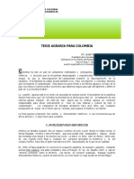 TESIS AGRARIA PARA COLOMBIA