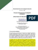 2007 nuevo horizonte de la investigacion pedagogica