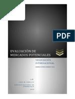 EVALUACIÓN DE MERCADOS POTENCIALES