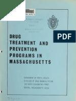 Drug treatment and prevention programs in Massachusetts