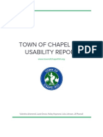 Town of Chapel Hill Usability Report