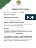 MODELO DE AUTO DE ADMISIÓN DE LA DEMANDA DE REPARACIÓN DIRECTA