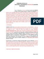 POLITICA DE PRIVACIDAD PARA EL TRATAMIENTO DE DATOS PERSONALES COBRANZA ACTIVA S.A.S..doc