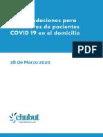 Recomendaciones para cuidadores de pacientes COVID 19 en el domicilio. (1)