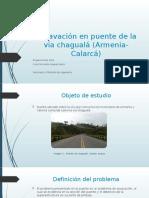 Socavación en puente de la vía chagualá (