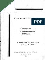 Censo de Chile Año 1960