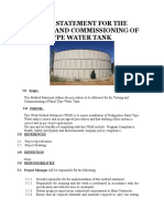 Method Statement for the Testing and Commissioning of Panel Type Water Tank