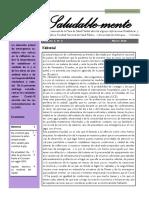Boletín N° 3. Vol. 3 Marzo de 2020 - Boletín mensual de la Mesa de Salud Mental