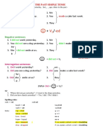 Past Simple and Past Continuous Tense Rules
