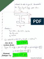 Exercice corrigé Les caractéristiques géométriques des sections planes