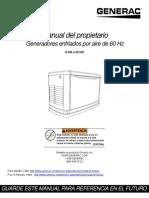 0K5801SPFR Manual del Propietario Generac