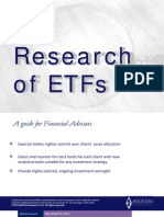 Research of ETFs