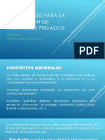 INDICADORES PARA LA EVALUACION DE PROYECTOS PRIVADOS