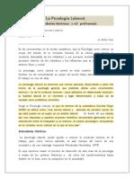La Psicologia Laboral,  historia  e incumbencias profesionales psicologia 2020.