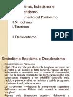 Simbolismo, Estetismo e Decadentismo