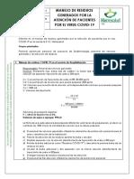 Instrucciones manejo COVID-19