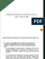 ARTIGOS 233 A 285 CC COMENTADO