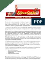 Programa de Governo Joao Da Costa