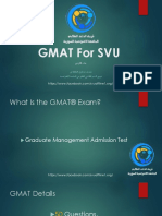 GMAT FOR SVU