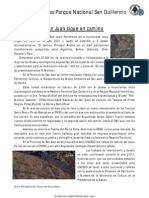 Noticias Parque Nacional San Guillermo Dic-2010