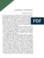 EL ORIGEN DE NUESTRAS CULTURAS