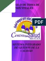 PROTOCOLO DE TOMA DE SIGNOS VITALES