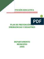 11. PLAN DE PREVENSIÓN DE EMERGENCIAS Y DESASTRES (2)