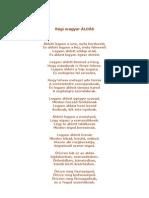 Régi magyar ÁLDÁS