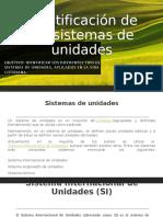 Identificación de los sistemas de unidades