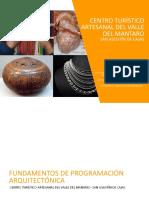 PROGRAMACIÓN ARQUITECTÓNICA CENTRO TURÍSTICO ARTESANAL- HUANCAYO