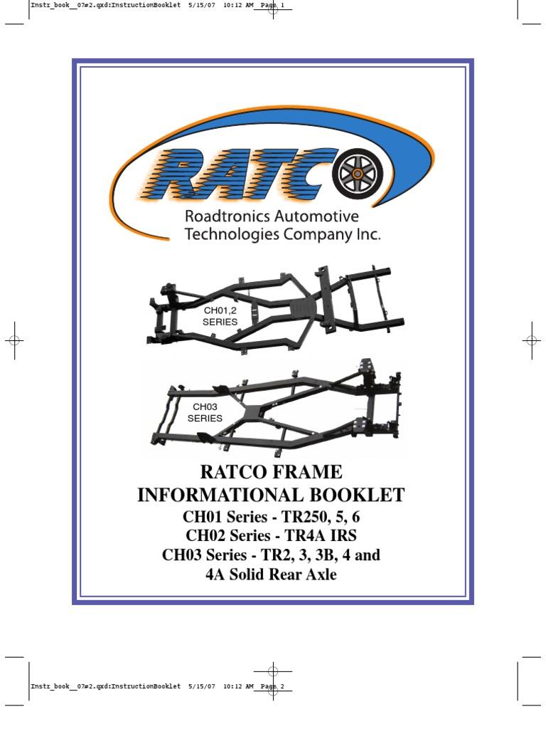 Rat Co Instruction Booklet | Sheet Metal | Paint
