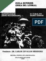 Primer Simposio de Correlaciones Antropológicas Andino-mesoamericano, 25-31 de Julio de 1971, Salinas, Ecuador.