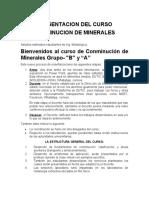 Presentacion del Curso_Conminucion de Minerales
