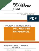 REGIMEN ECONOMICO DEL MATRIMONIO Y LA UMH