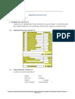 Memeoria Descriptiva de Recalculo Hidraulico