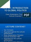 INTL 101-Cultural Globalization