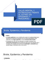 SALUD MENTAL Y ESTRATEGIAS FRENTE AL ESTRÉS EN EPIDEMIAS Y PANDEMIAS (COVID19)